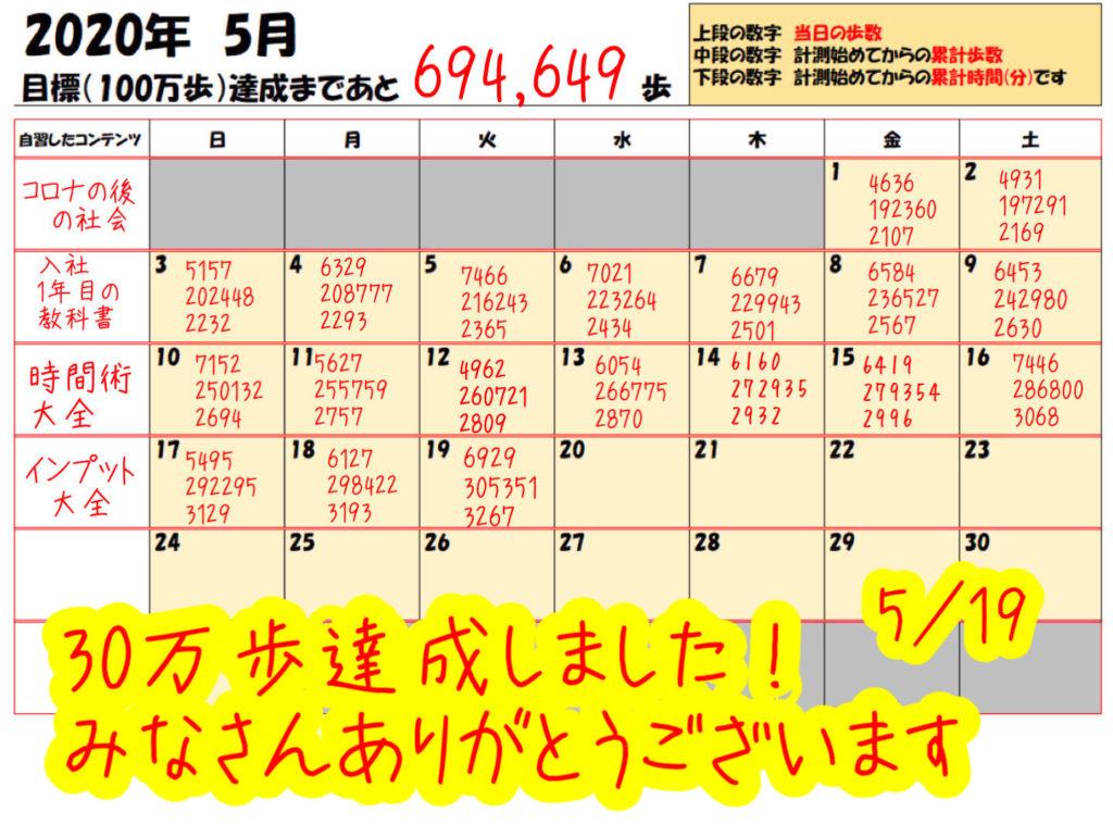 踏み台昇降 5月19日の記録