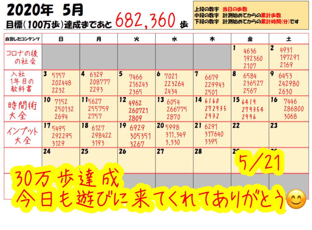 踏み台昇降 5月21日の記録
