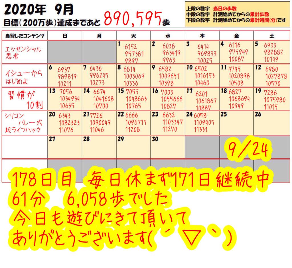 踏み台昇降 2020年9月28日の記録