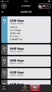 踏み台昇降 2020年11月18日の記録